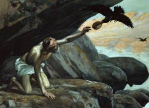Elijah Fed by the Ravens James Tissot